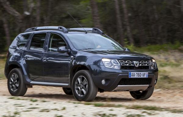 Dacia Duster Sweden January 2014. Picture courtesy of teknikensvarld.se