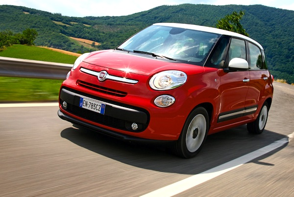 Fiat 500L Italy January 2014. Picture courtesy of quattroruote.it