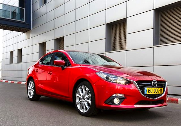 Mazda3 Israel January 2014. Picture courtesy of auto.co.il