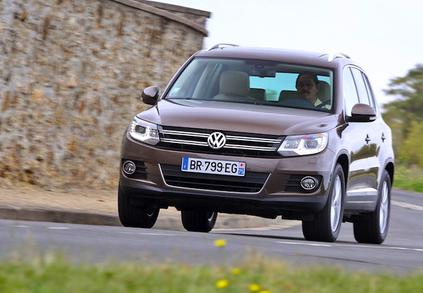 VW Tiguan Poland February 2014. Picture courtesy of largus.fr