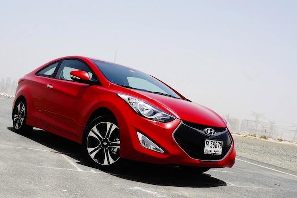 Hyundai Elantra Saudi Arabia 2013. Picture courtesy of drivearabia.com