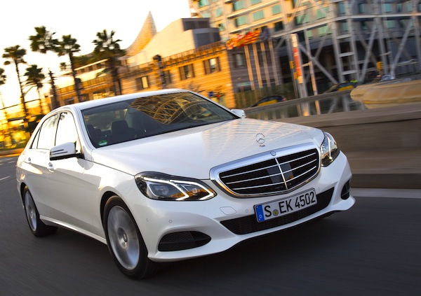 Mercedes E Class Europe July 2014. Picture courtesy of largus.fr