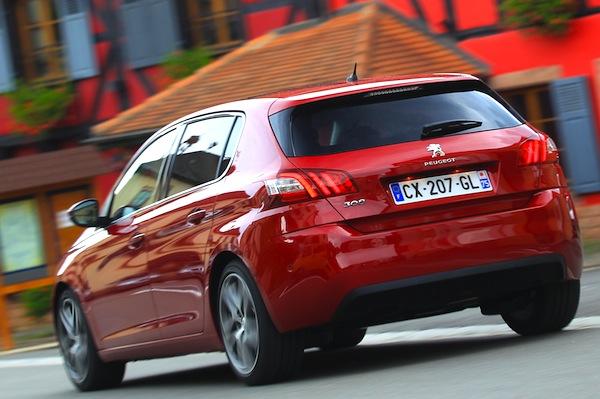 Peugeot 308 France March 2014. Picture courtesy of automobile-magazine.fr