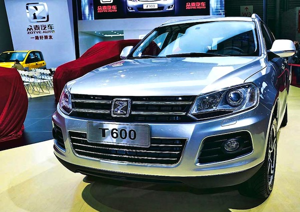 Zotye T600 China March 2014. Picture courtesy of autobild.ua