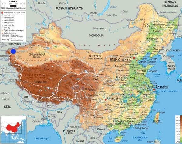 China Map. Picture courtesy of ezilon.com