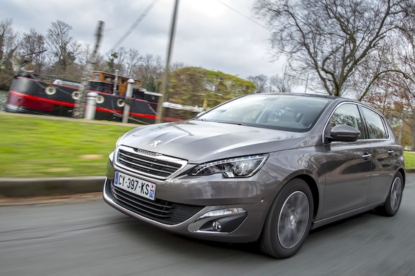 Peugeot 308 Europe December 2014. Picture courtesy of largus.fr