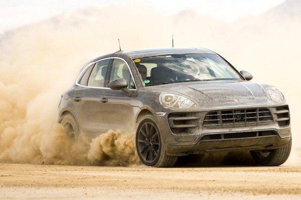 Porsche Macan Spain April 2014. Picture courtesy of largus.fr