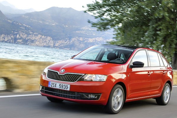 Skoda Rapid Spaceback Slovenia May 2014. Picture courtesy of largus.fr