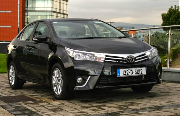 Toyota Corolla Ireland April 2014. Picture courtesy of completecar.ie