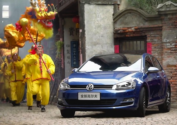 VW Golf China April 2014. Picture courtesy of bitauto.com