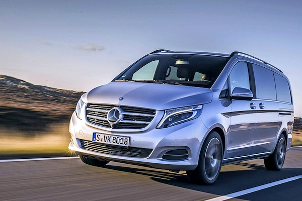 Mercedes V Class Germany May 2014. Picture courtesy of autobild.de