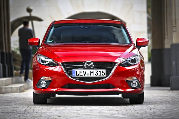 Mazda3 Germany March 2015. Picture courtesy of largus.fr