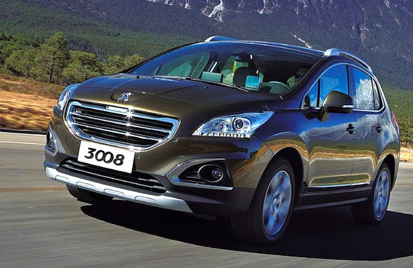 Peugeot 3008 China July 2014. Picture courtesy of bitauto