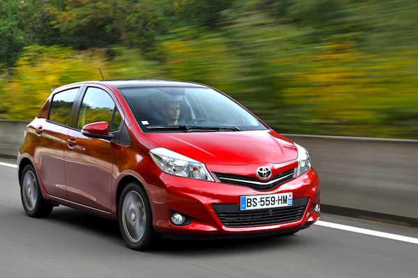 Toyota Yaris France August 2014. Picture courtesy of largus.fr