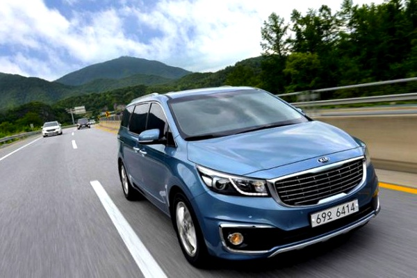 Kia Carnival South Korea July 2016. Picture courtesy of hankyung.com