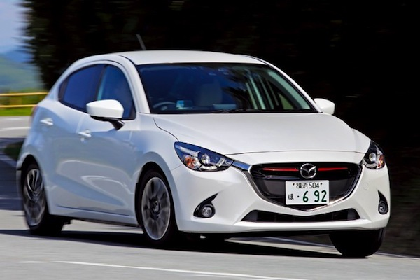 Mazda Demio Japan September 2014. Picture courtesy of autocar.jp