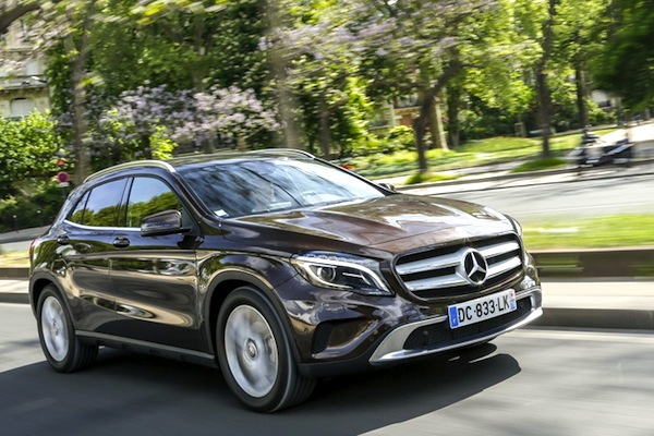 Mercedes GLA Spain September 2014. Picture courtesy of largus.fr