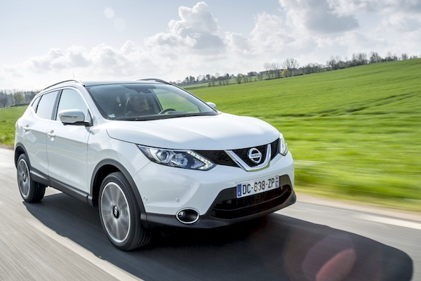 Nissan Qashqai Europe November 2014. Picture courtesy of largus.fr