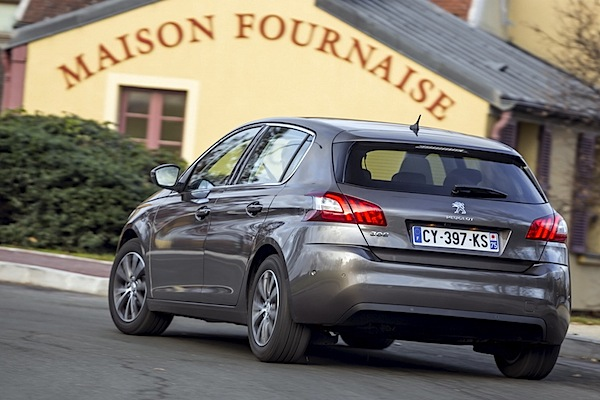 Peugeot 308 France October 2014. Picture courtesy of largus.fr