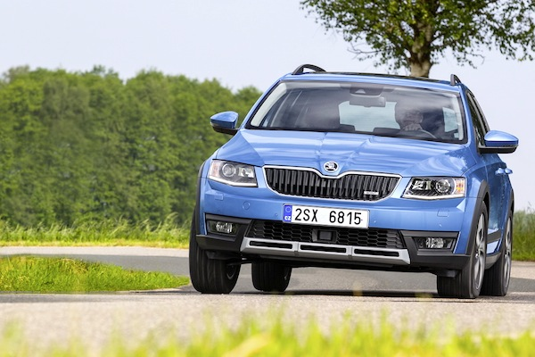 Skoda Octavia Croatia 2014. Picture courtesy of largus.fr