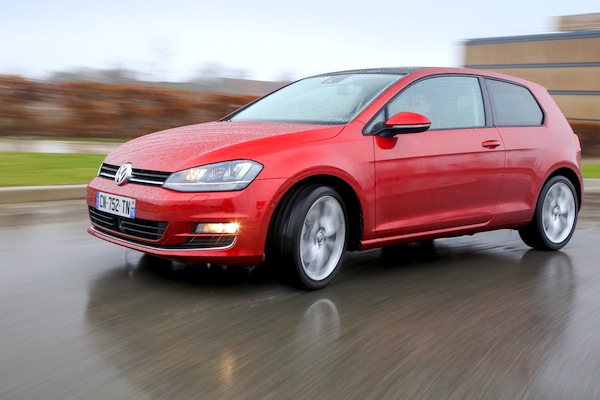 VW Golf France October 2014. Picture courtesy of largus.fr