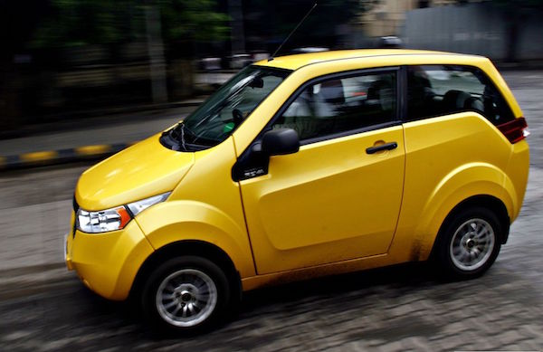 Mahindra Reva E2O India. Picture courtesy motoroids