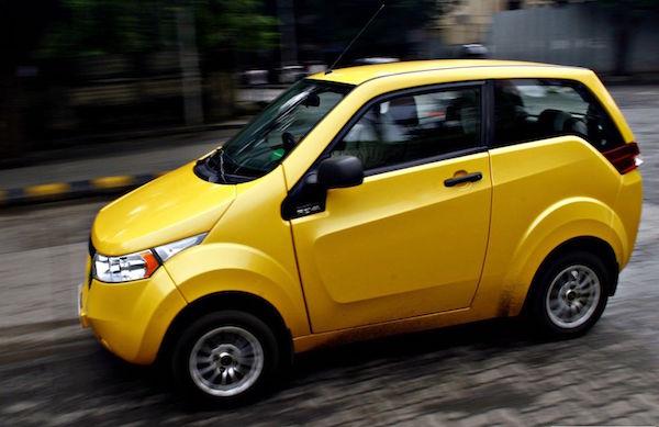 Mahindra Reva E2O India. Picture courtesy motoroids
