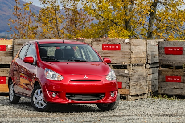 Mitsubishi Mirage USA October 2014. Picture courtesy of motortrend.com