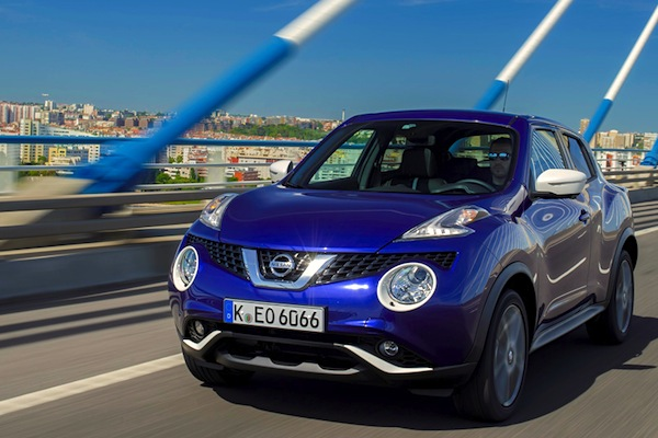 Nissan Juke UK October 2014. Picture courtesy of turbo.fr