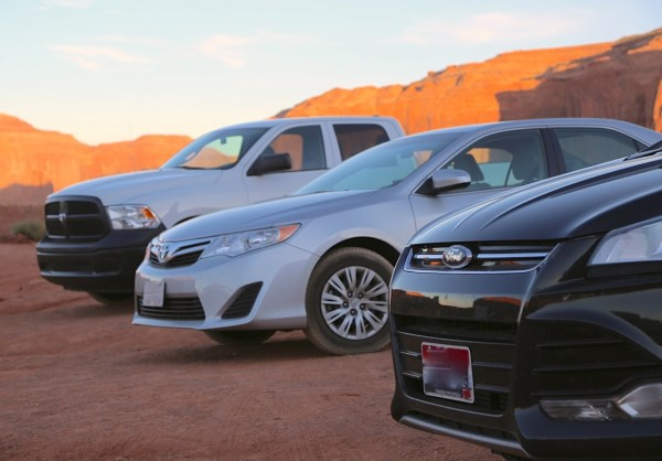 Toyota Camry Ford Escape Monument Valley