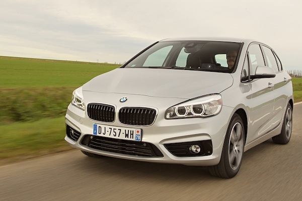 BMW 2 Series Active Tourer France August 2015. Picture courtesy of largus.fr