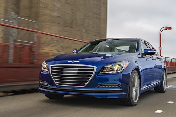 Hyundai Genesis USA November 2014. Picture courtesy of motortrend.com