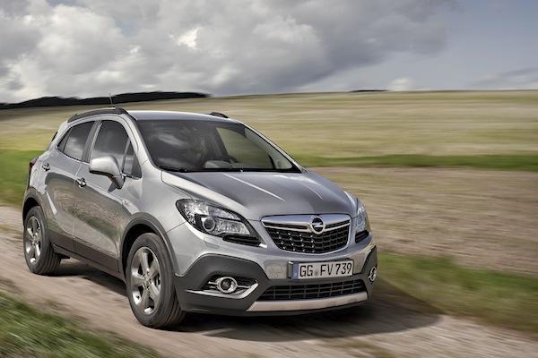 Opel Mokka Germany November 2014. Picture courtesy of largus.fr
