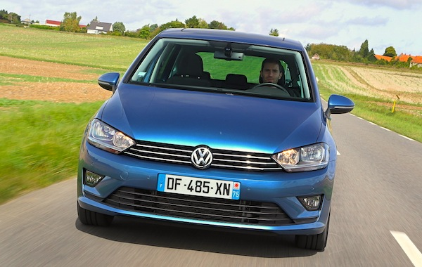 VW Golf Sportsvan Europe October 2014. Picture courtesy of largus.fr