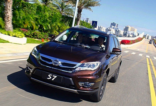 BYD S7 China December 2014. Picture courtesy of auto.sohu.com