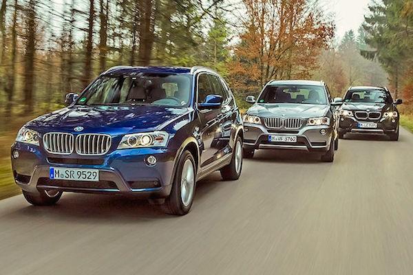 BMW X3 France March 2015. Picture courtesy autobild.de