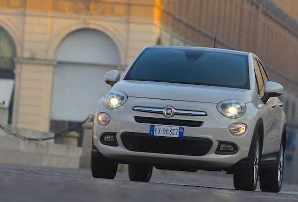 Fiat 500X Italy January 2015. Picture courtesy largus.fr