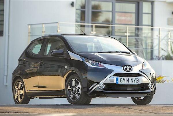 Toyota Aygo UK January 2015