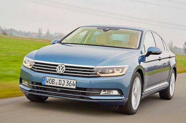 VW Passat Germany February 2015. Picture courtesy autobild.de