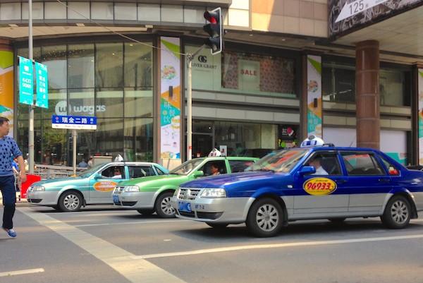 2. VW Santana taxi x3 Shanghai