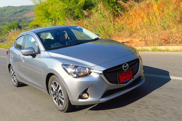 Mazda2 sedan Thailand April 2015. Picture courtesy headlightmag.com