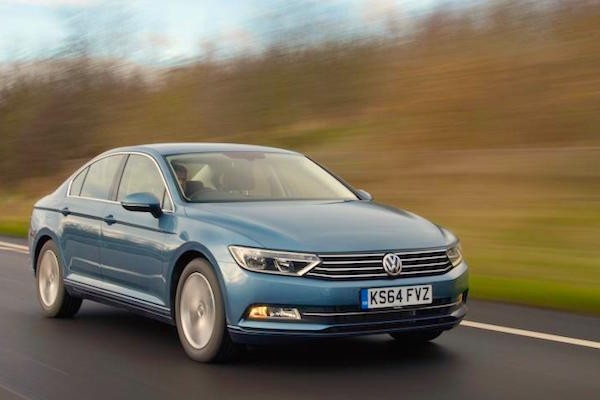 VW Passat UK April 2015. Picture courtesy autocar.co.uk