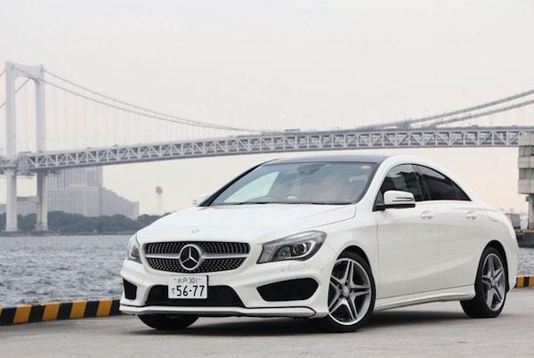 Mercedes CLA Japan June 2015. Picture courtesy trendy.nikkeibp.co.jp