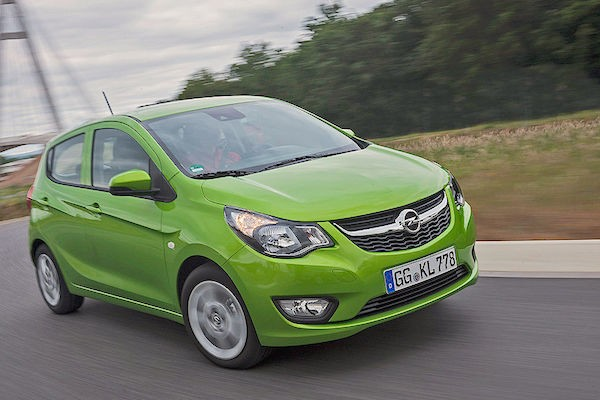 Opel Karl Denmark August 2015. Picture courtesy autobild.de