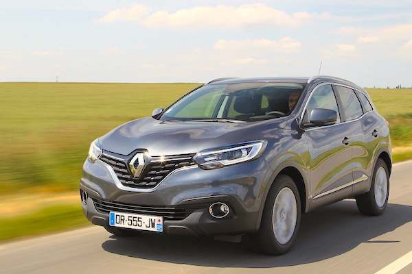 Renault Kadjar Europe May 2015. Picture courtesy largus.fr