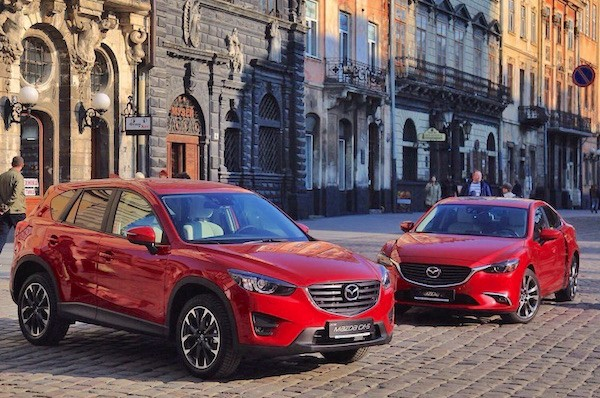 Mazda CX-5 and Mazda6 Ukraine July 2015. Picture courtesy autocentre.com.ua