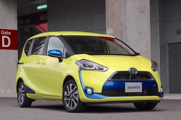 Toyota Sienta Taiwan October 2016. Picture courtesy hydrocycle2.com