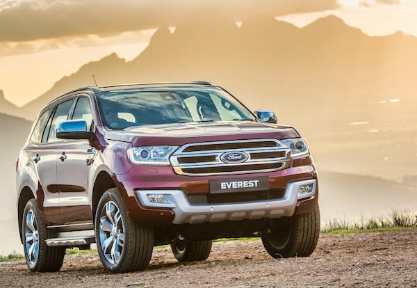 Ford Everest Thailand October 2015