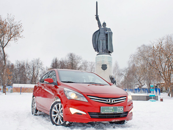 Hyundai Solaris Russia September 2015. Picture courtesy carscope.ru