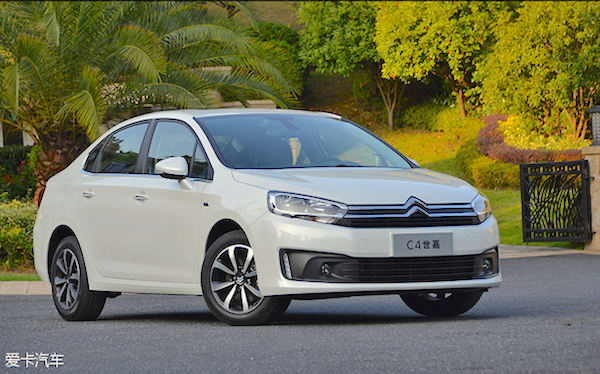 Citroen C4 China October 2015. Picture courtesy xinhuanet.com